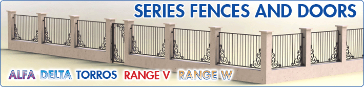 Series of fences and gates - ALFA, DELTA, TORROS, Range V, Range W